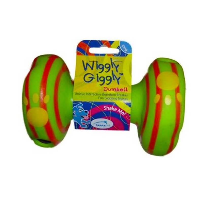 Happy Pet WG57521 Wiggly Giggly Dumbell Yeşil 15x1 Cm